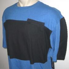 NEW 3XB ECKO UNLTD MENS T SHIRT Tee Blue Black Zipper Pocket 3XL 3X