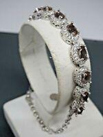 Turkish Handmade Jewelry 925 Sterling Silver Alexandrite Stone Ladies' Bracelet