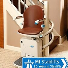 2000 Series Curved Stairlift fitted inc new rail & 12 month warranty-NATIONWIDE
