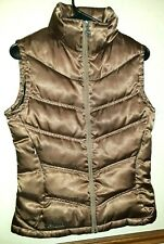 Columbia Titanium Womens S Down Feather Puffer Vest Brown