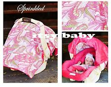 THE WHOLE CABOODLE CARSEAT CANOPY BABY CAR SEAT COVER 5 PC SET NEW ~ SPRINKLED ~
