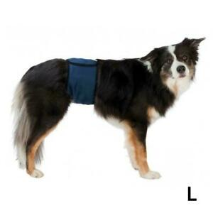 Trixie Male Dogs Incontinence Belly Band with 3 Absorbant Pads - Large, 55-65 cm