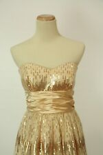 NEW $100 Roberta Champagne Short Prom Formal Size 11 Dress Gown Fit & Flare