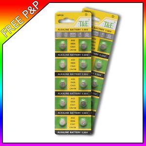 20 X AG3 Super LR41 AG3 SR41 192 392  ALKALINE BUTTON BATTERY