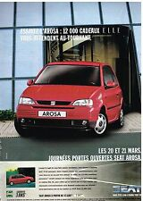 Publicité Advertising 1999 Seat Arosa