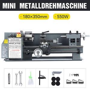 """7x14"""" Metalldrehmaschine Mini-Drehmaschine Drehbank Metal Lathe Tischdrehbank DE"""