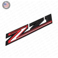For Chevy 19-21 Silverado Z71 Fender Letter Sport Logo Emblem Badge Black Red