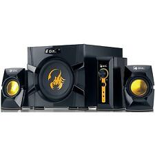 GENIUS GX GAMING 70W 2.1 SPEAKER SYSTEM WITH SUBWOOFER / RCA & 3.5MM JACK INPUT