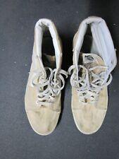 VANS SK8 high hi triple white Canvas Surf Surfer Skate Shoes Sneakers 11 trashed
