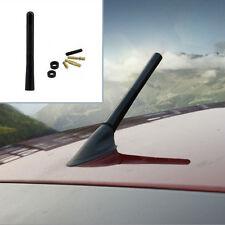 """Universal Auto Black 4.7"""" Aluminum Carbon Fiber FM AM Aerial Antennas Screw ANT"""