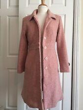 Marvin Richards Light Pink Blush Tweed Boucle Knee Length Car Coat Size 8 Medium