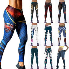 446bf364af863 Women 3D Print Superhero Casual Jogging Leggings Pants Yoga Gym Fitness  Trouser