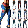 Women 3D Print Yoga Sports Fitness Leggings Workout Gym Stretch Athletic Pants