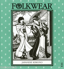 Folkwear Japanese Kimono Men's & Women sizes Sewing Pattern 113 Informal Yukata