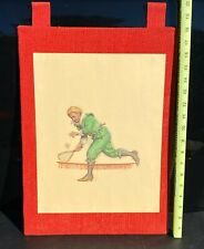 Vintage Tennis Player Print By Jacobson With Wear Man Cave Art Decor Collectible