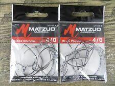 New listing 2 Packages - Matzuo 4/0 Weedless X-Wide Shiner Hooks - Minnow - Nightcrawler
