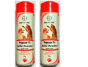 Bayer Bolfo Anti Tick & Flea Powder For Dogs & Cats - 75gm x 2 (Pack of 2)