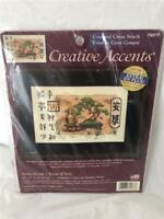 Bucilla Creative Accents ASIAN SCENE Counted Cross Stitch Kit Brand New Sealed