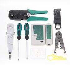 Rj11 Rj45 Cable Hand Tool Crimper Network Tester Tool Set 9 in 1 Kit W/ bag
