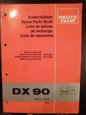 Deutz-Fahr Schlepper DX90 Ersatzteilkatalog