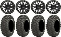 "System 3 ST-3 Black 14"" Wheels 28"" BigHorn Tires Honda Pioneer 1000 / Talon"