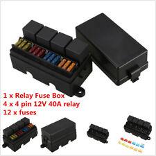 Universal Car 12 Way Fuse Box Block Holder Kit 14.5x4.5x4cm Black Waterproof
