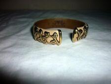 Manchette bracelet VAN DER BAUWEDE 2 GENEVE SUISSE Cuir argent 925 vermeil Luxe