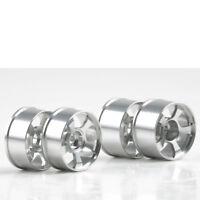 Felge 1:24 5 Speichen F50 Aluminium silber MR-02 4 Stück Mini-Z Kyosho MZH-264S
