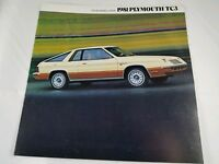 Vintage 1981 Plymouth TC3 Front Wheel Drive Brochure Automotive Collectible