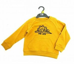 Ex Mothercare Boys Mustard Stegosarus Dinosaur Dino Sweatshirt Top Age 2/3 Years