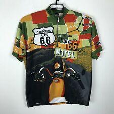 Louis Garneau Cycling Bike Jersey Size 2XL Multicolor Pullover Route 66