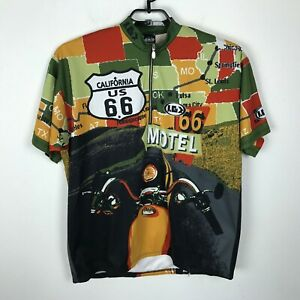 Louis Garneau Cycling Bike Jersey Size 2XL Multicolor Pullover Route 66