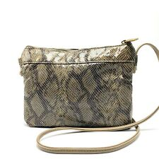 Vintage Bags by Pinky Snake Print Small Shoulder Crossbody Bag Leather Shiny