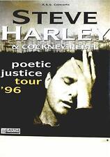 STEVE HARLEY & COCKNEY REBEL TOURPOSTER KONZERTPLAKAT POETIC JUSTICE TOUR 1996