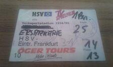 Ticket HSV - Eintracht Frankfurt , Sammelkarte, Hamburger SV,  Ultras, 1994, SGE