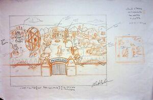 The Simpsons Production SIGNED CHRIS BOLDEN Hand Drawn PRAISELAND PARK