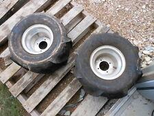 Pair of Take Off ATV UTV SxS Tire Wheel Rim Kenda The Trakker 20 12 8 ITP Alloys
