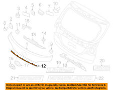 HYUNDAI OEM 13-15 Santa Fe Liftgate Tailgate Hatch-Lower Molding Trim 87373B8000