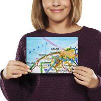 A5 - Calais City France French Travel Map Print 21x14.8cm 280gsm #44504