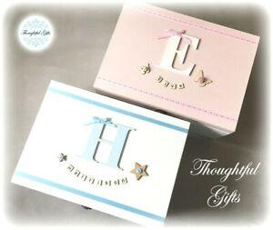 Baby Boys Girls Twin Large/ XL Personalised WoodenKeepsake Box Christening Gift