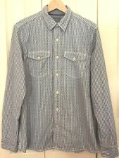 Fat Face Men's Grey Striped Classic Fit 100% Cotton Long Sleeve Shirt M