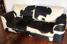 NATURAL HOLSTEIN FRIESIAN COWHIDE 3 SEATER LOUNGE