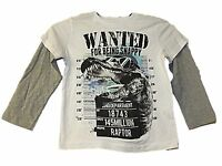 NEW BOYS EX STORE WANTED SNAPPY CROCODILE L/S T-SHIRT 4-14 YEARS Great Gift