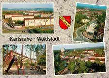72747091 Waldstadt_Karlsruhe Wohnsiedlung Hochhaeuser Kinderspielplatz Waldstadt