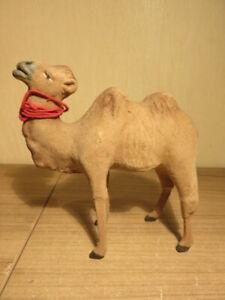 """Santon Devineau """"chameau floqué"""" Hauteur 14,5 cm environ TBE"""