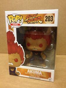 FUNKO POP! Games Street Fighter AKUMA #203 Exclusive Vinyl Figure NEW *RARE*