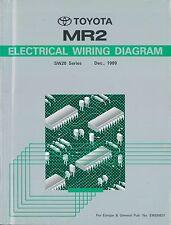 1989 TOYOTA MR2 SW20 SERIES ELECTRICAL WIRING DIAGRAM EWD082Y