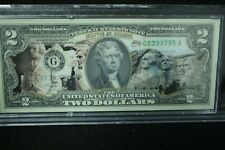 NEBRASKA Statehood $2 Two-Dollar Colorized U.S Bill NE State *Legal Tender*