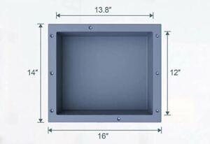 SMC Single Recessed Shower Shelf Niche Built in Wall Storage Shelf - SW 1614