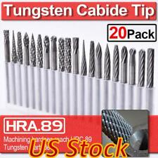 US 20pcs Tungsten Carbide Rotary Point Burr Die Grinder Shank Carving Set 3*3mm